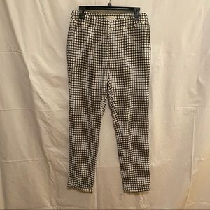 See U Soon Black and White Checkered Pants